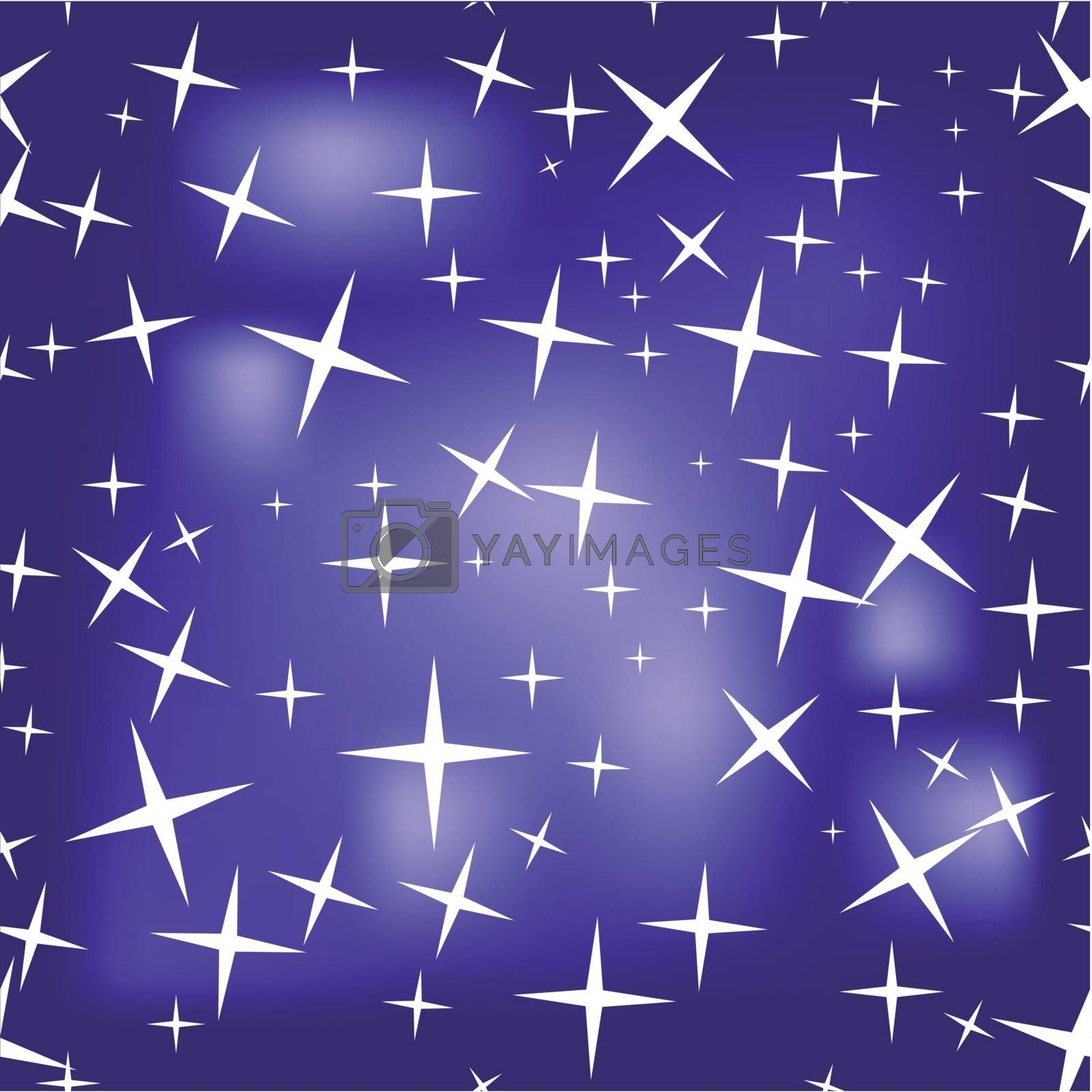 seamless texture of a starry sky. 10 EPS