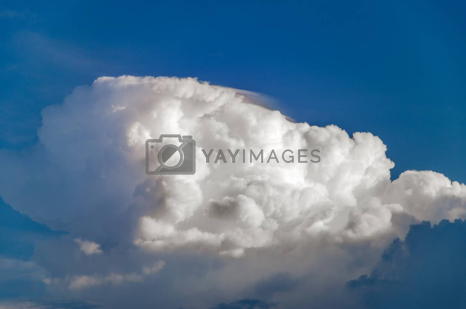 Clouds details and deep blue sky