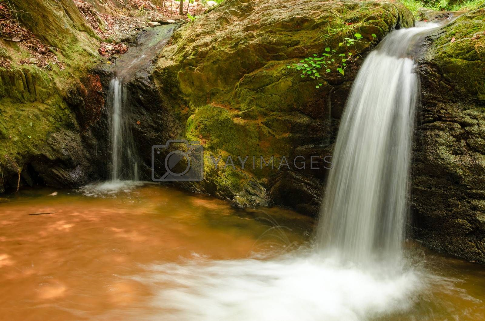 Two small waterfalls in La Guajira, Colombia