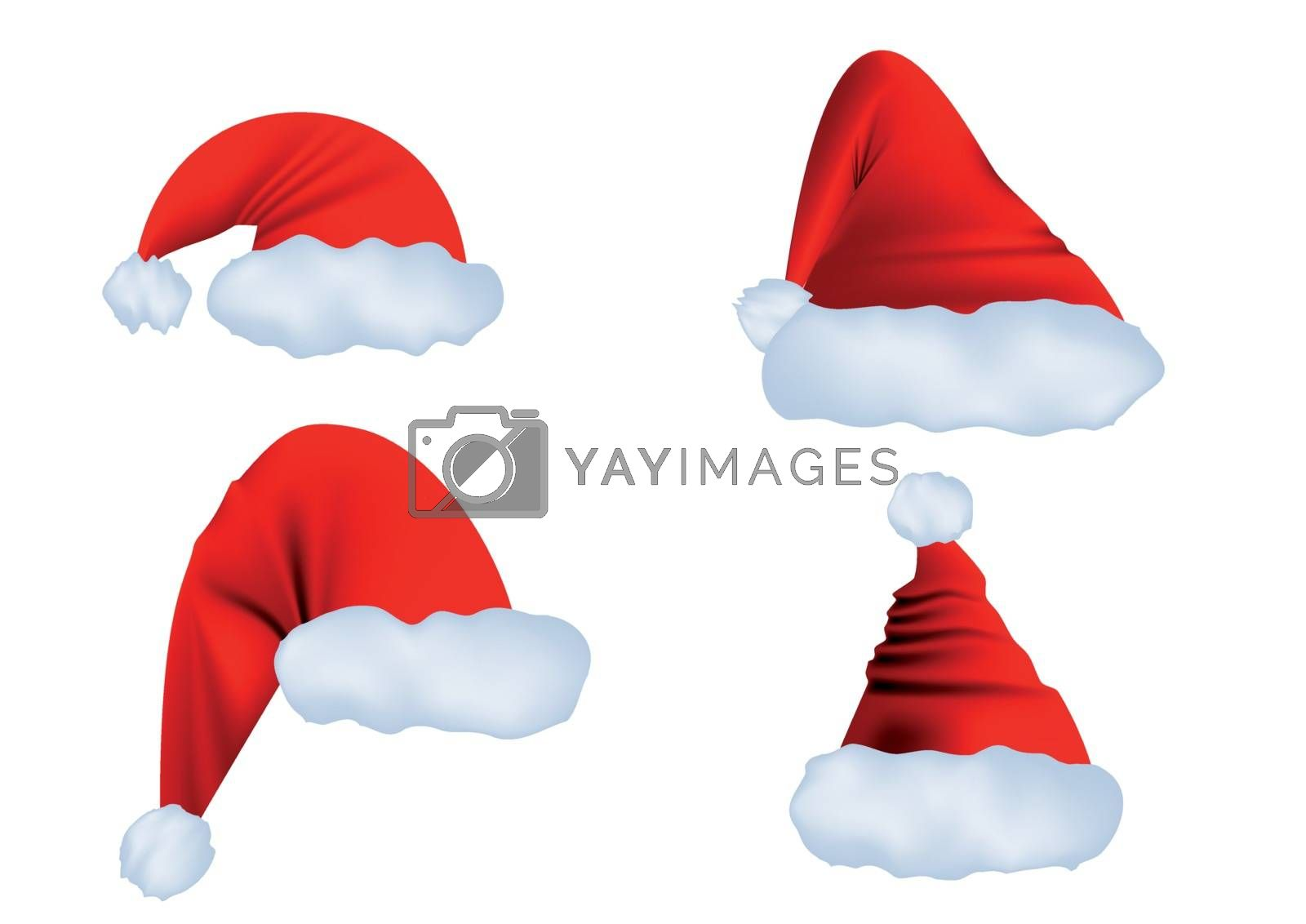 Santa Claus hat isolated on a white background