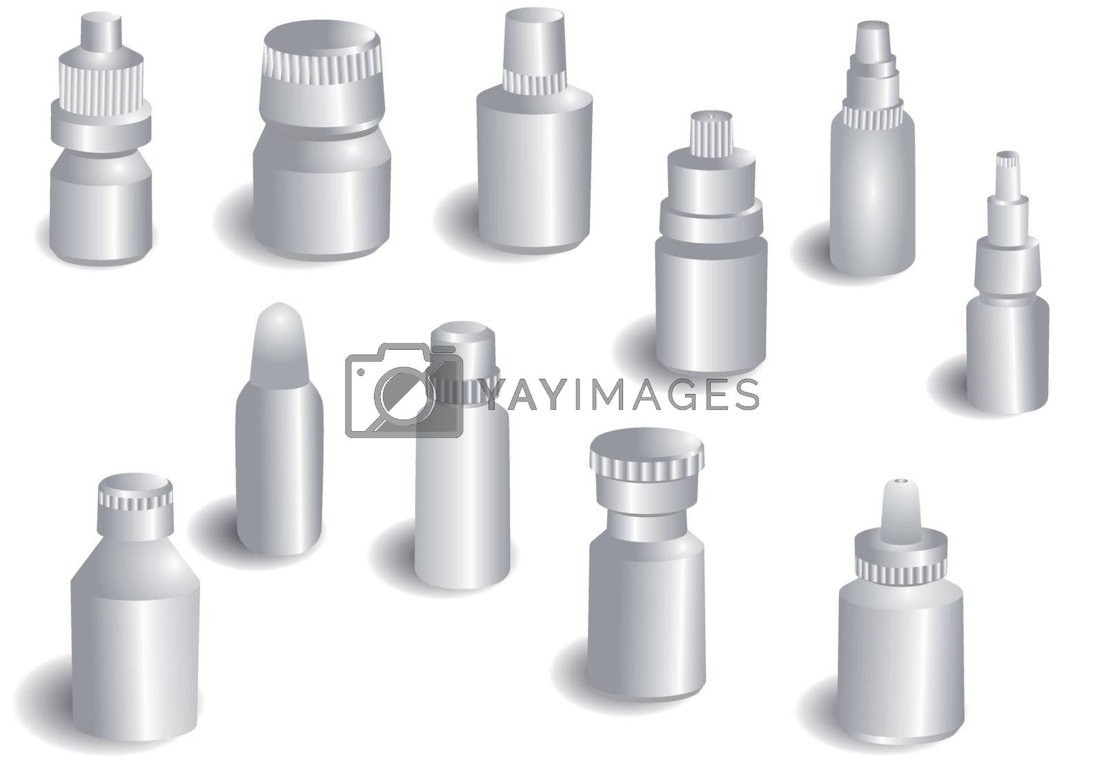 medicine bottle isolated on a white background