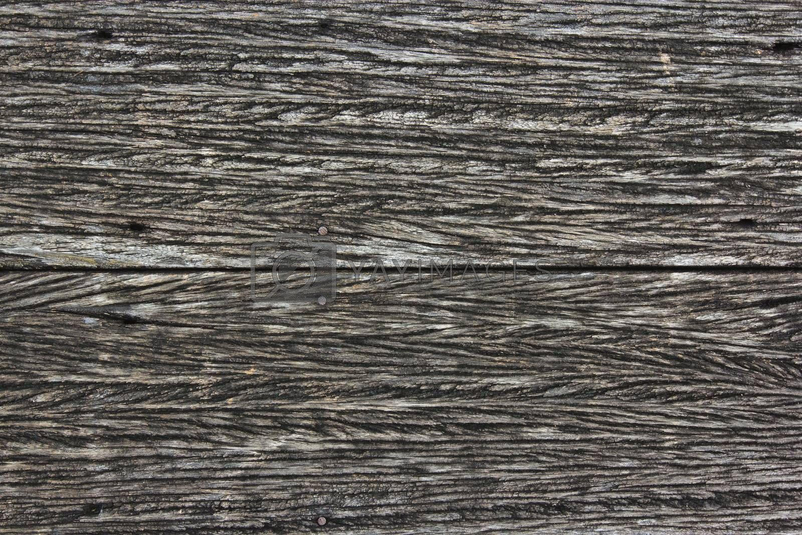 Black wood texture with the fracture sign