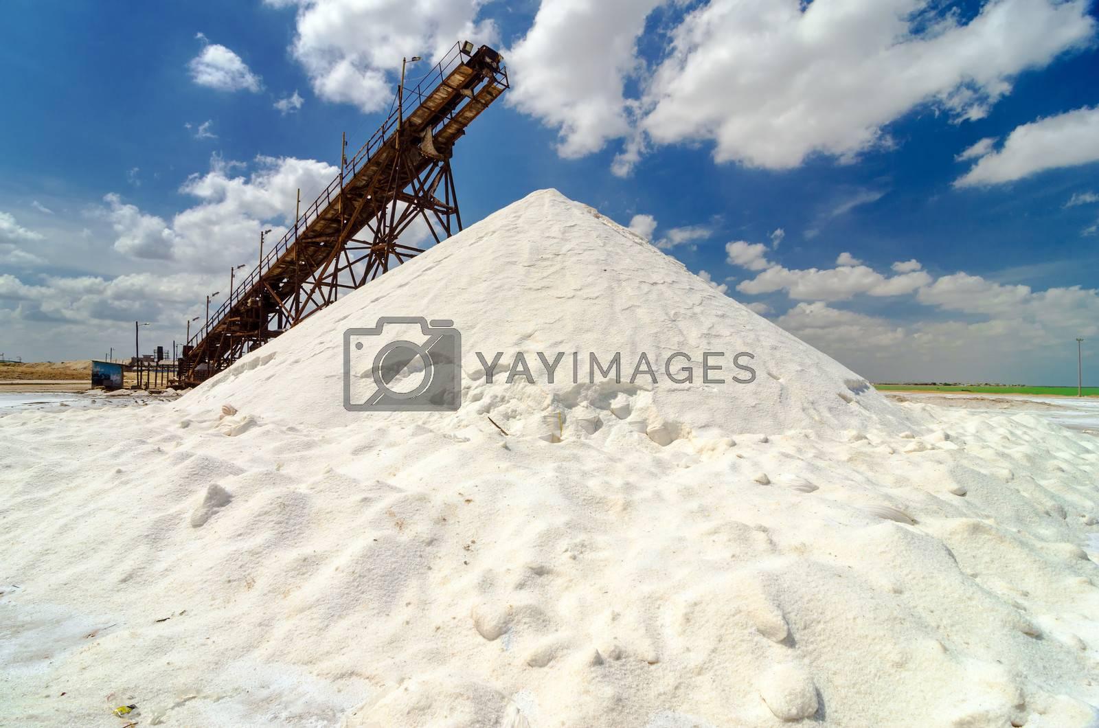 Mountain of salt in Manaure in La Guajira, Colombia