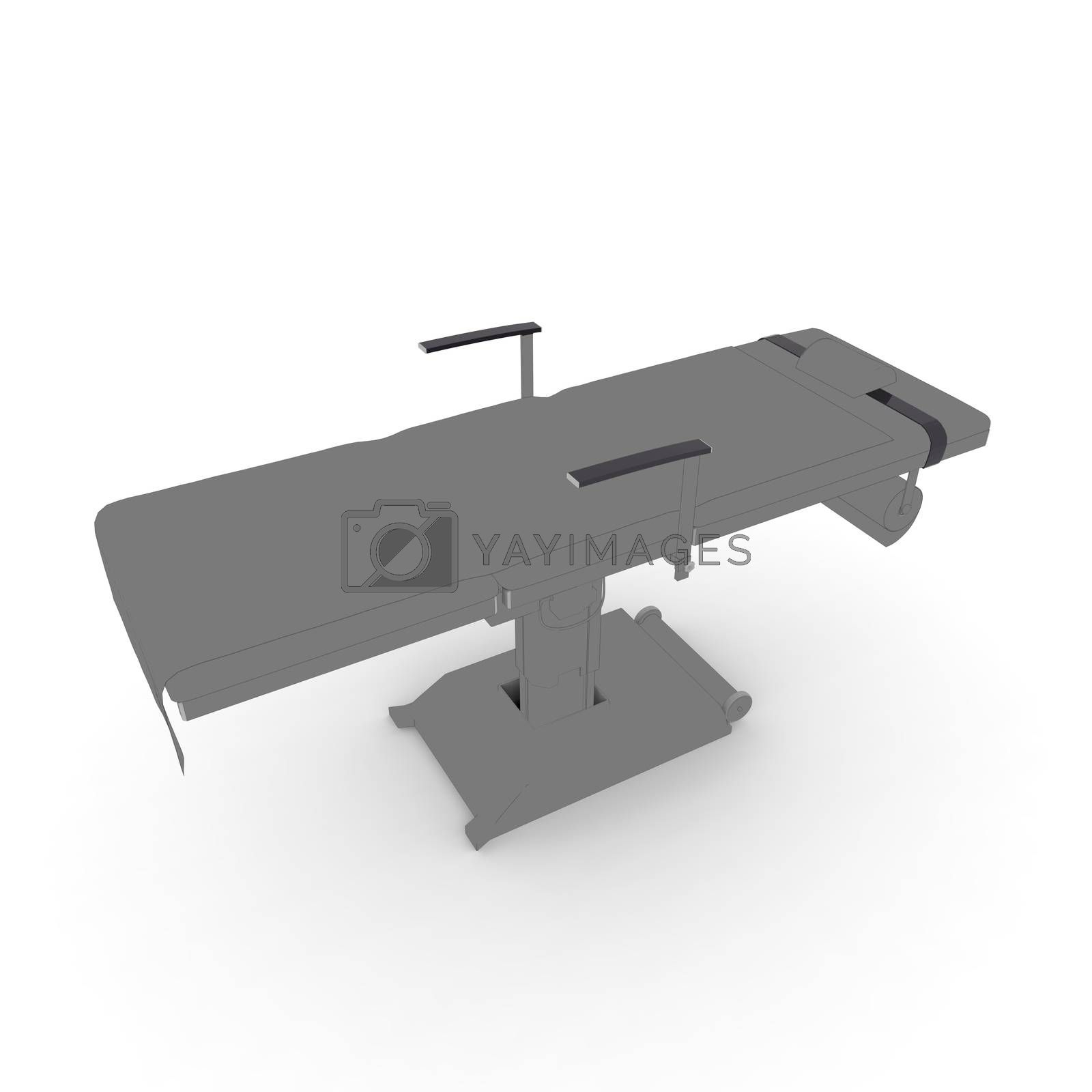 medical table on a white background by totuss