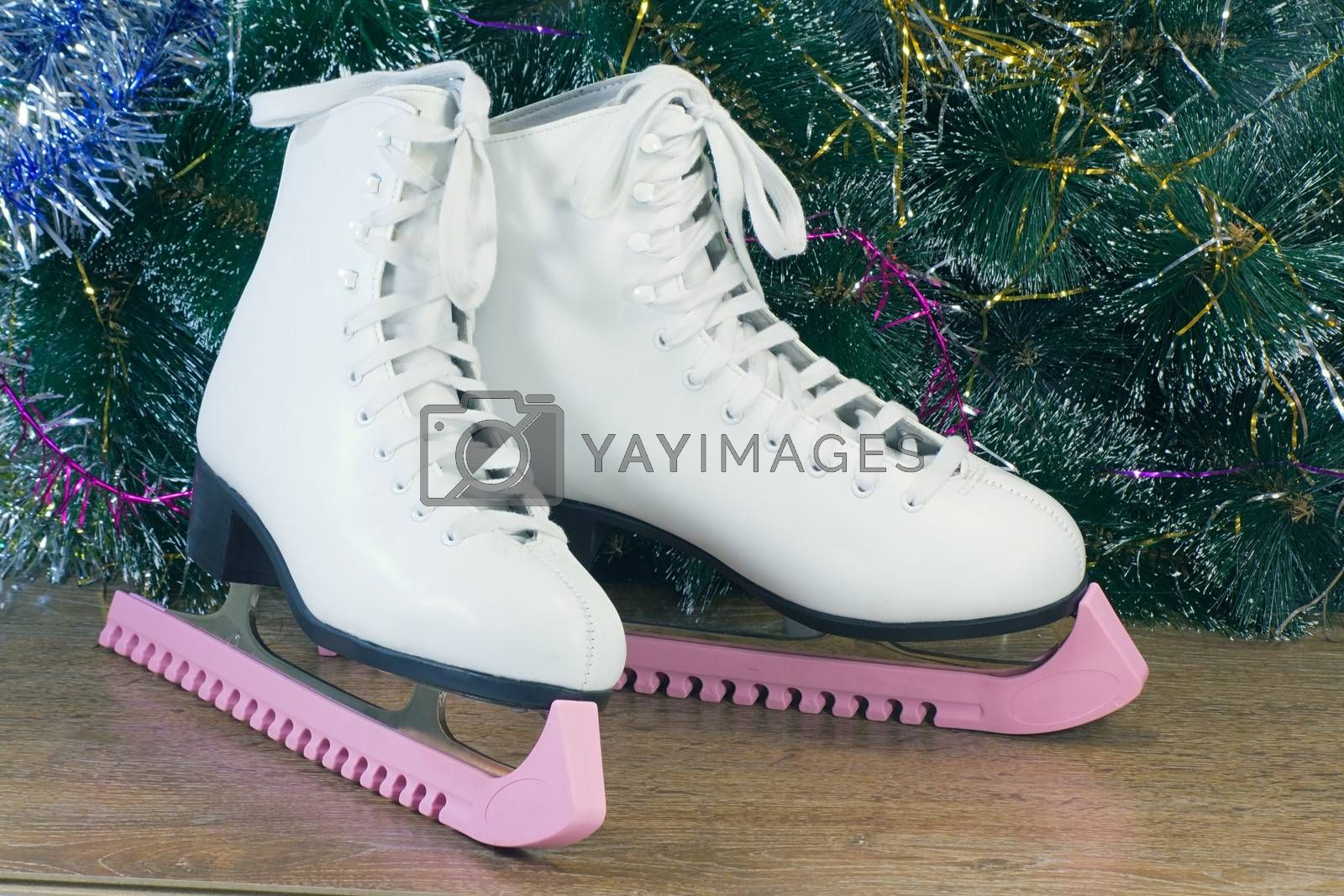 Gift for New year and Christmas - womens skates with beautiful white shoes.