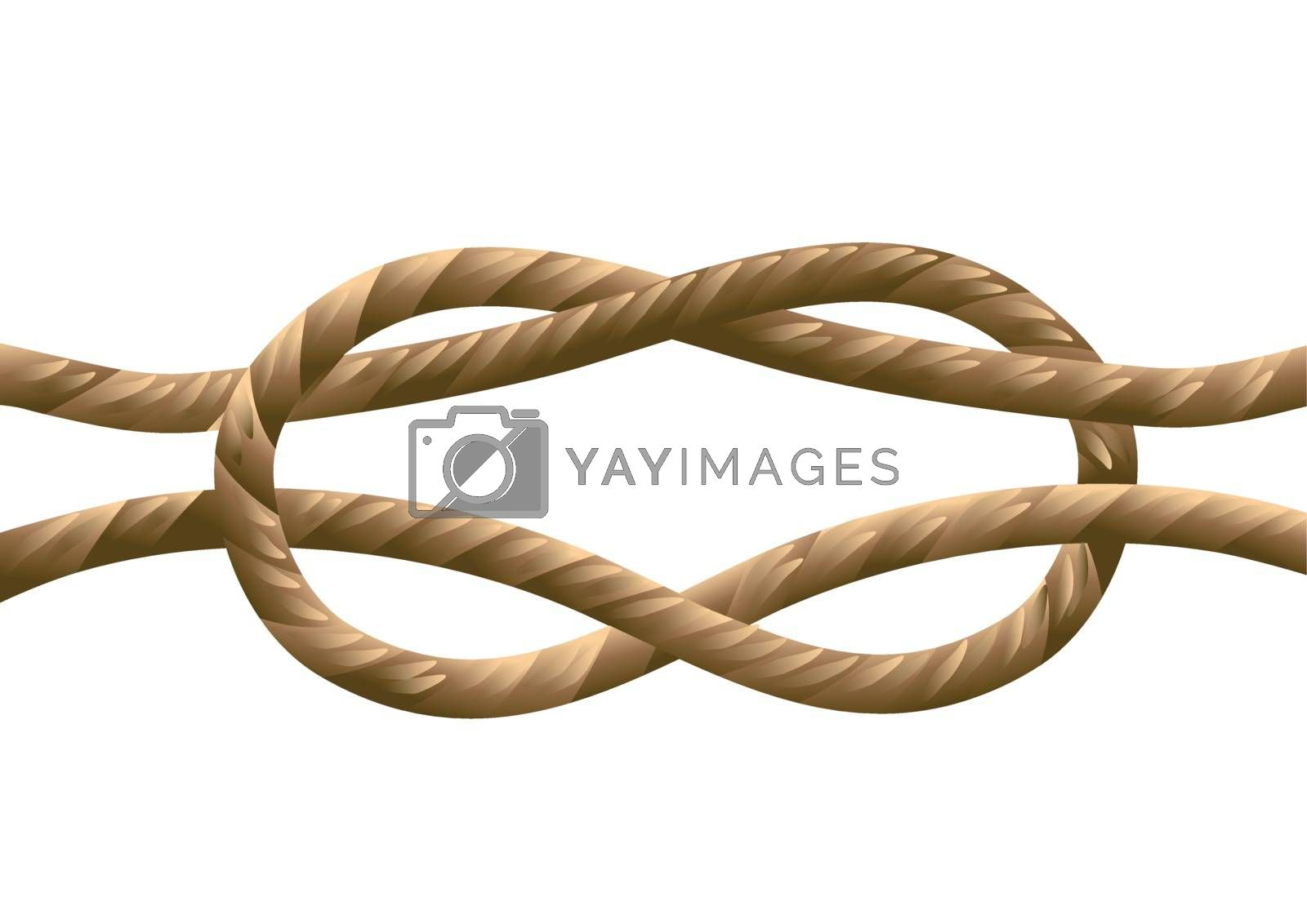 marine knot isolated on a white background
