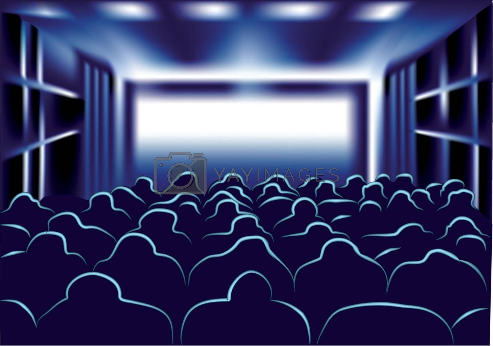movie and theater. people in the movie