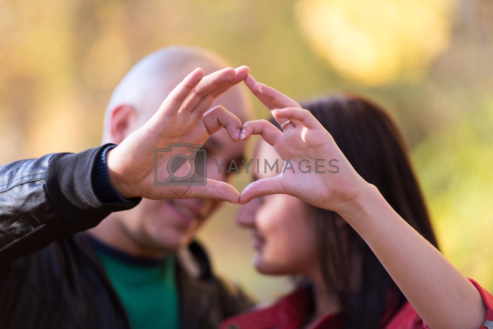 Couple Forming A Heart