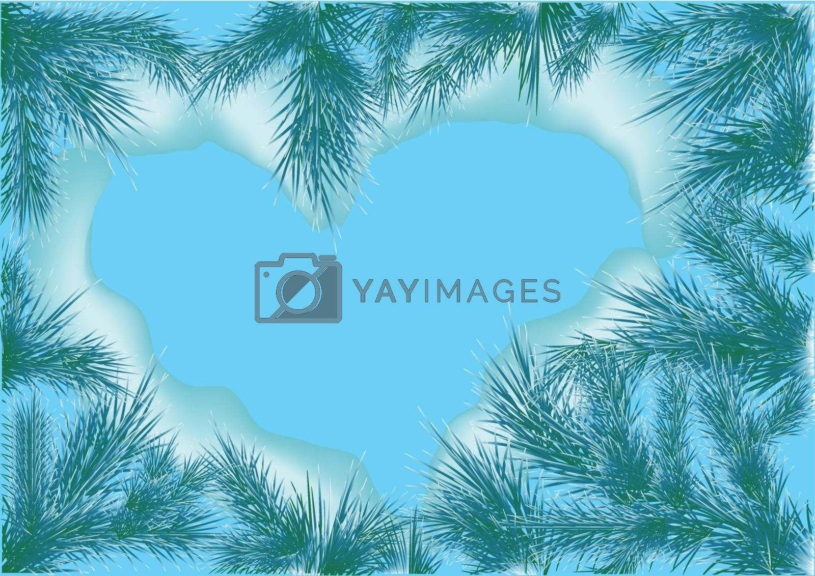 heart nature of christmas trees. 10 EPS