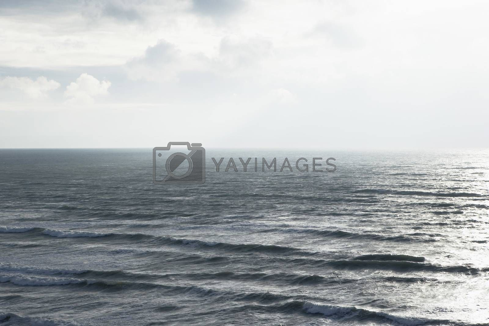 Sea landscape elevated view