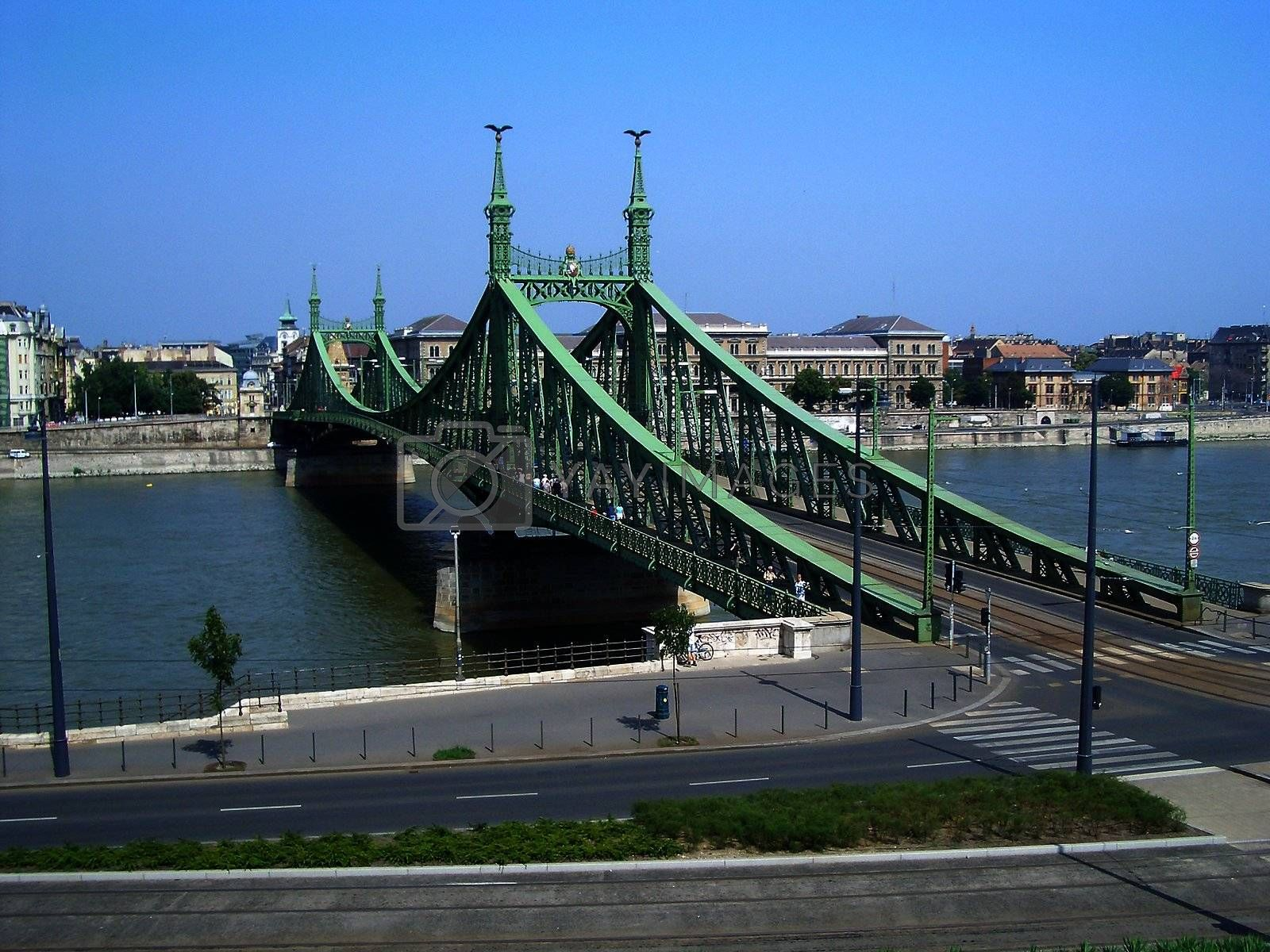 Indipendence Bridge over the Danube River, Budapest, Hungary by Marco Rubino