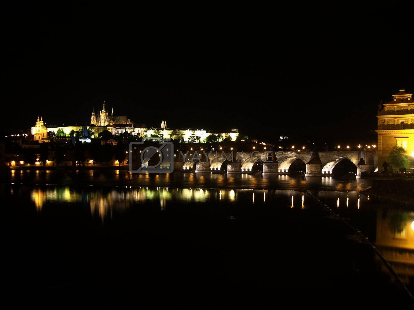 Prague Castle at Night, Czech Republic by Marco Rubino