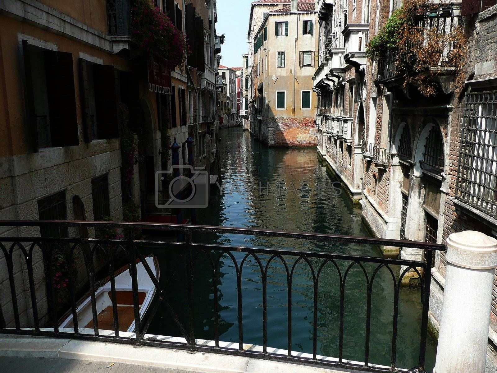 Deserted Canal, Venice, Italy by Marco Rubino
