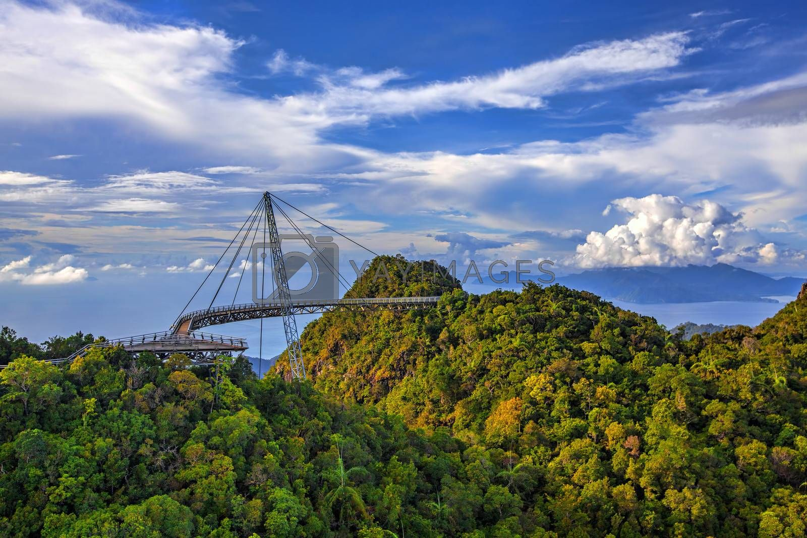 The landscape of Langkawi seen from Cable Car viewpoint