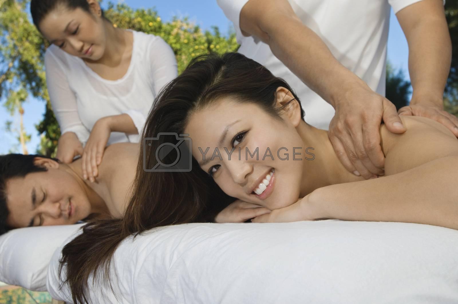 Couple Receiving Massage