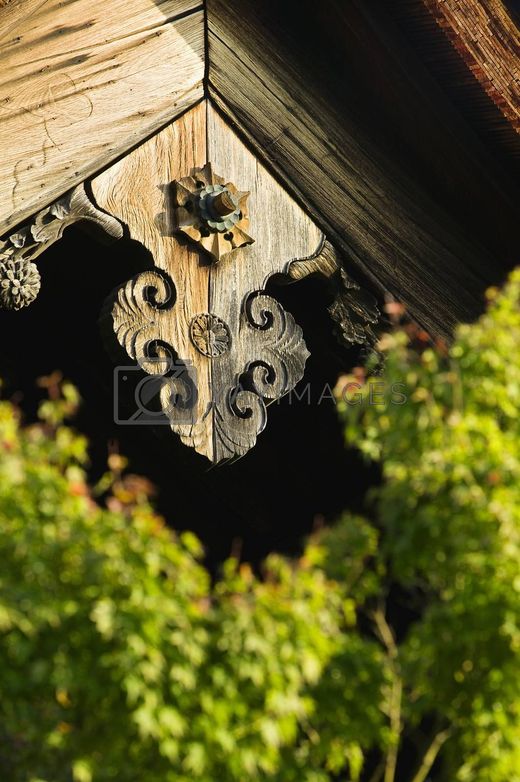 Japan Kyoto Tenryuji Temple architectural detail close-up by moodboard
