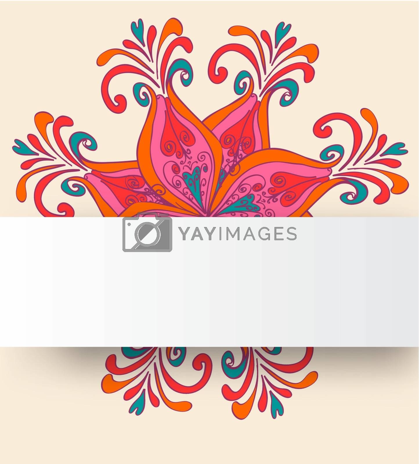 Seamless floral pattern. Vector vintage background.