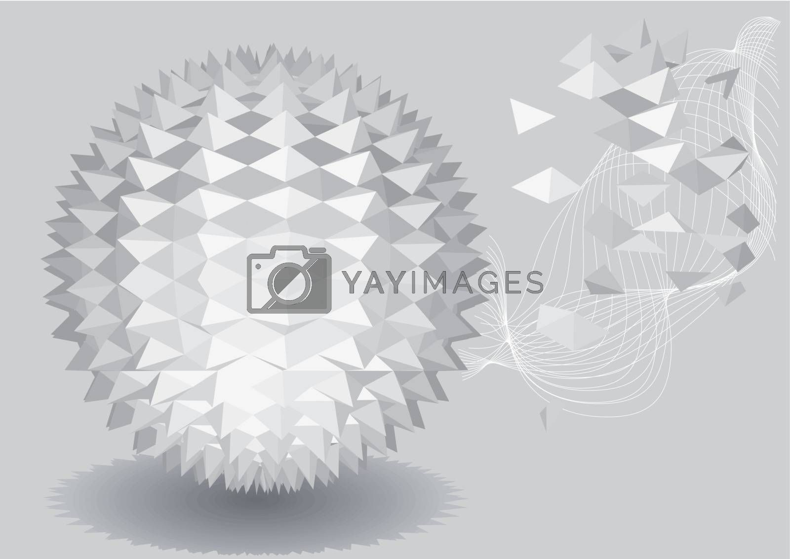 3d abstract geometric background. 10 EPS
