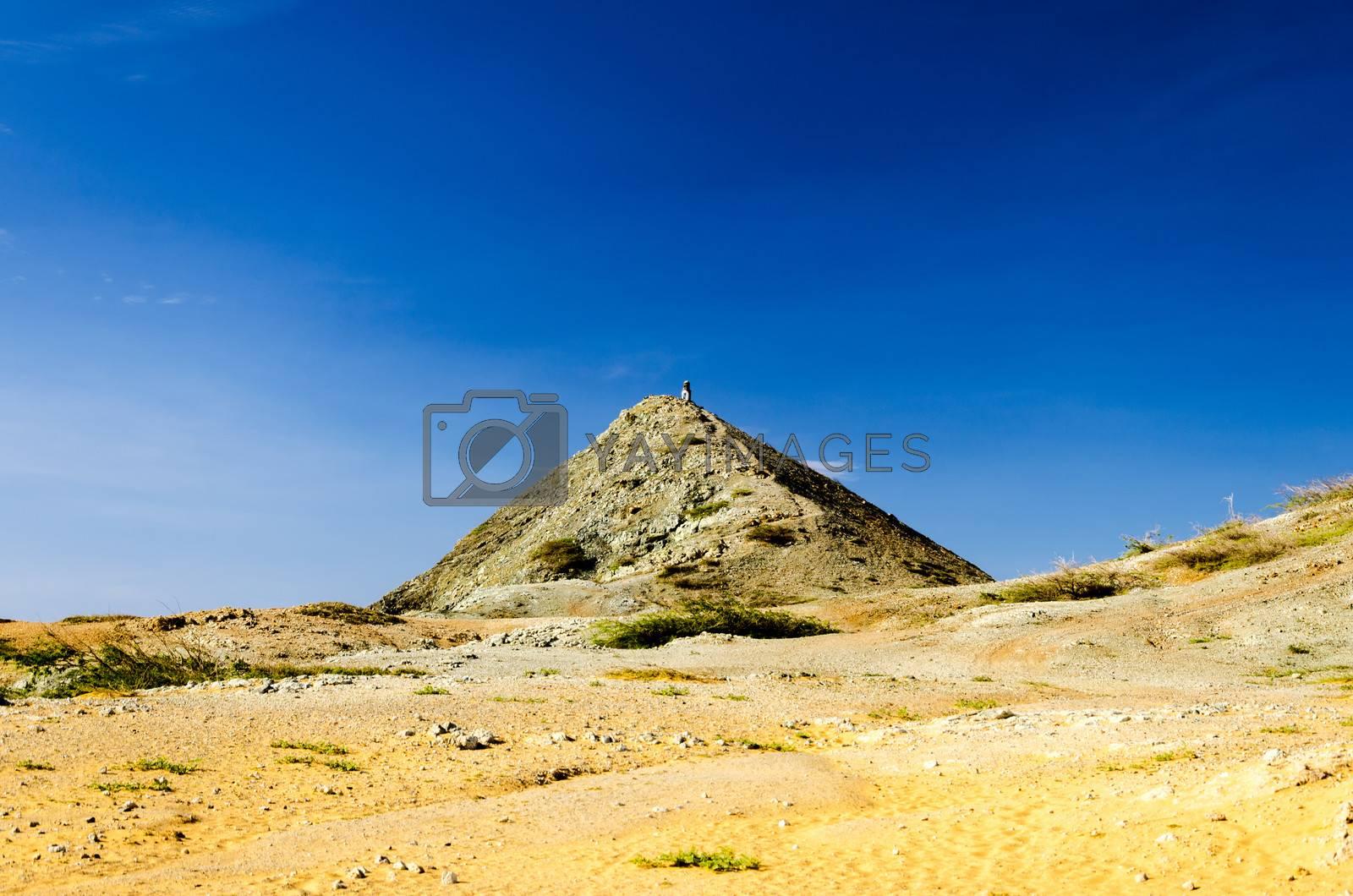 Pilon de Azucar in La Guajira, Colombia rising above the desert