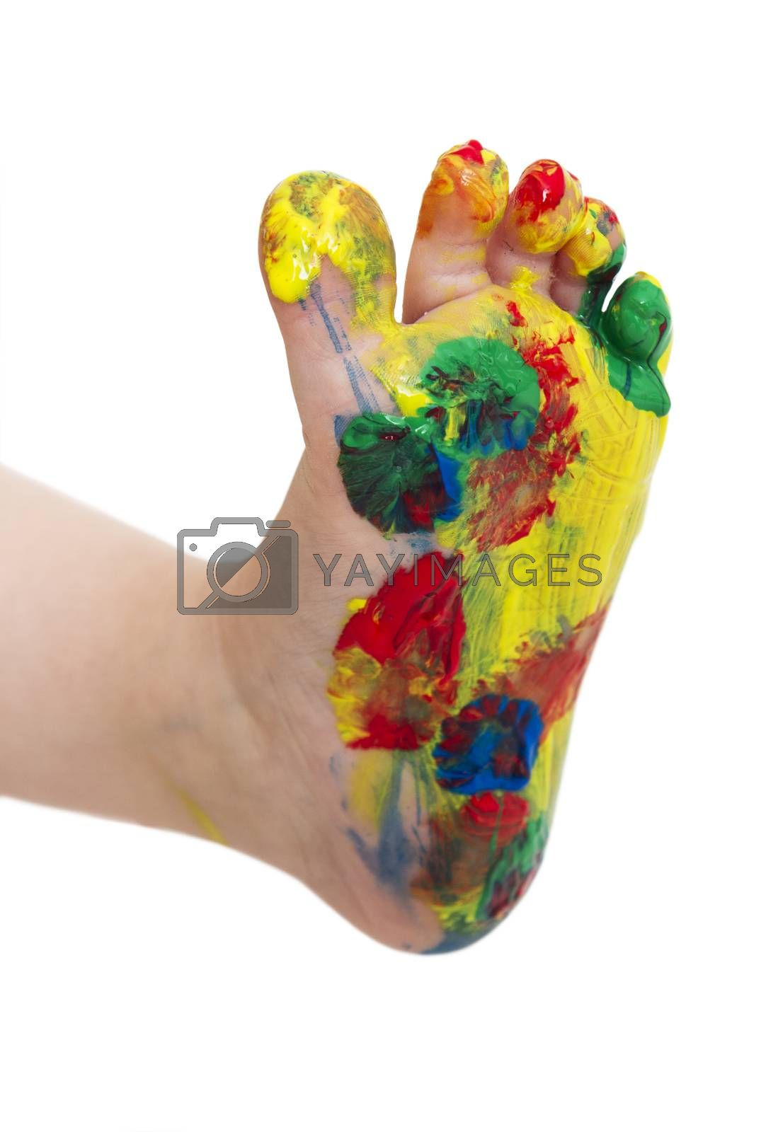 Royalty free image of colored feet from young child by gewoldi