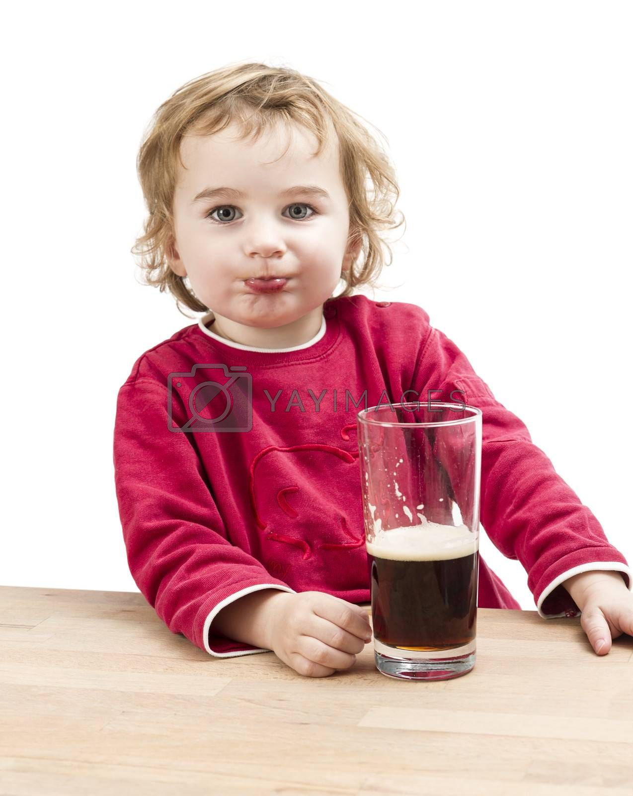 Royalty free image of young girl drinking beer by gewoldi