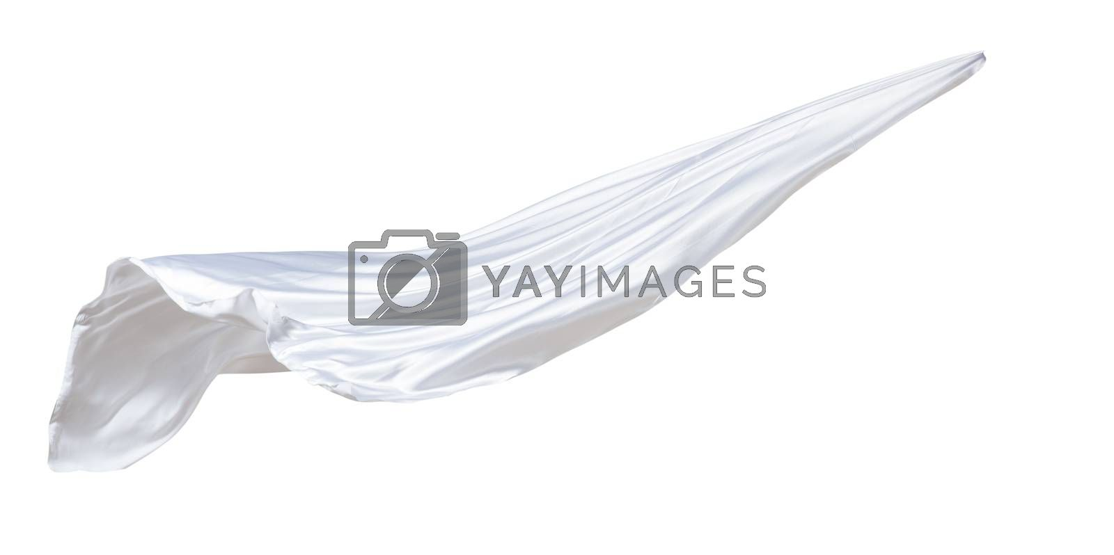 fabric weaves the wind, isolated on white background