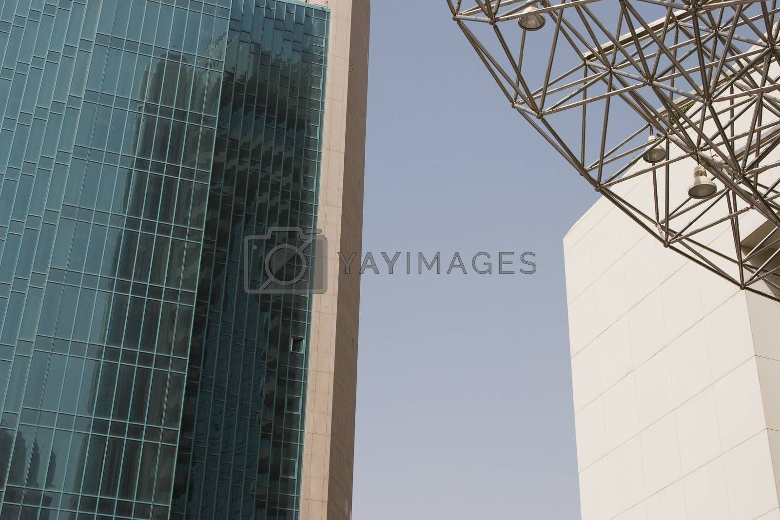 Architectural detail of the buildings in Deira, Dubai, UAE by moodboard