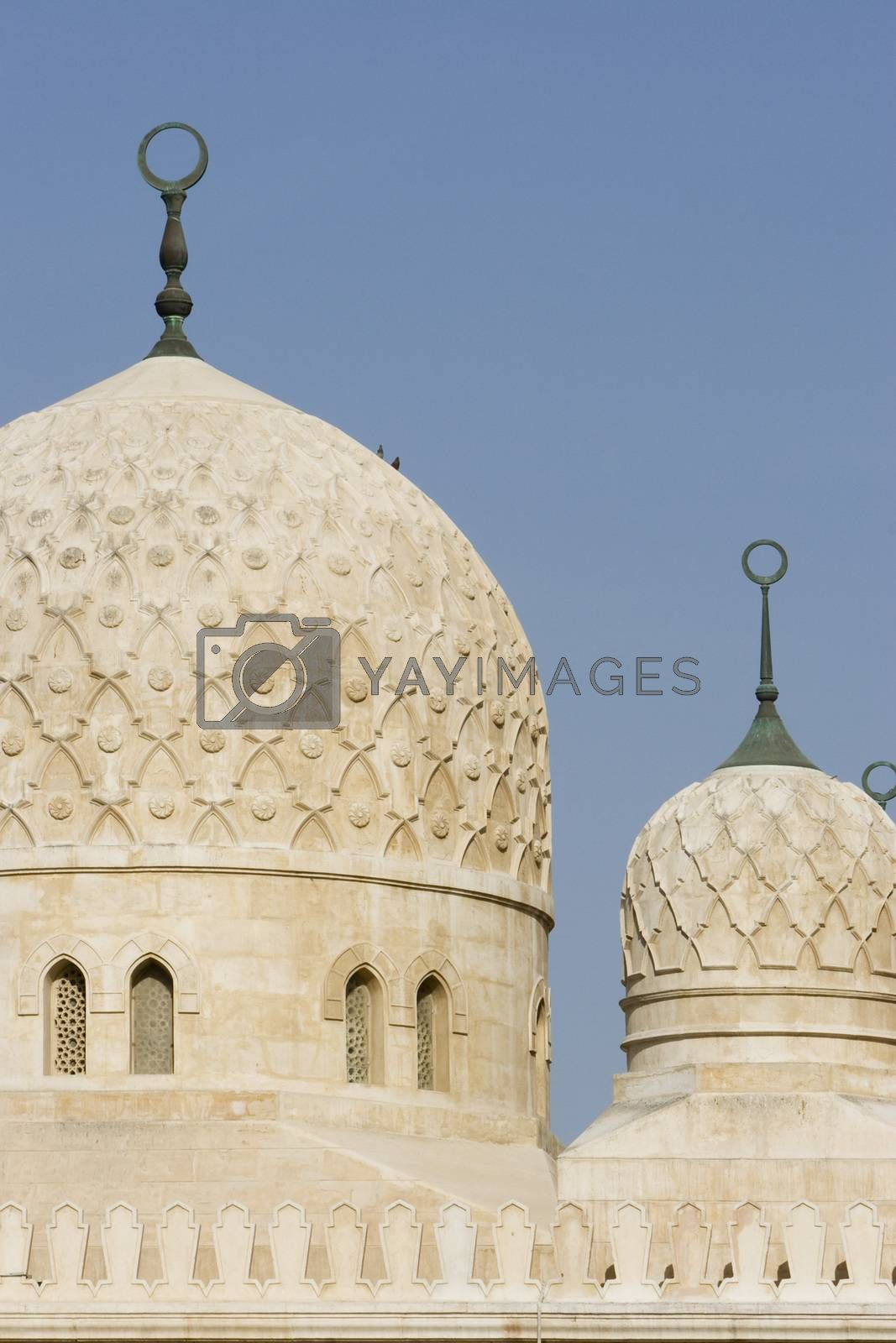 UAE Dubai architectural detail of the domes of the Jumeirah Mosque by moodboard