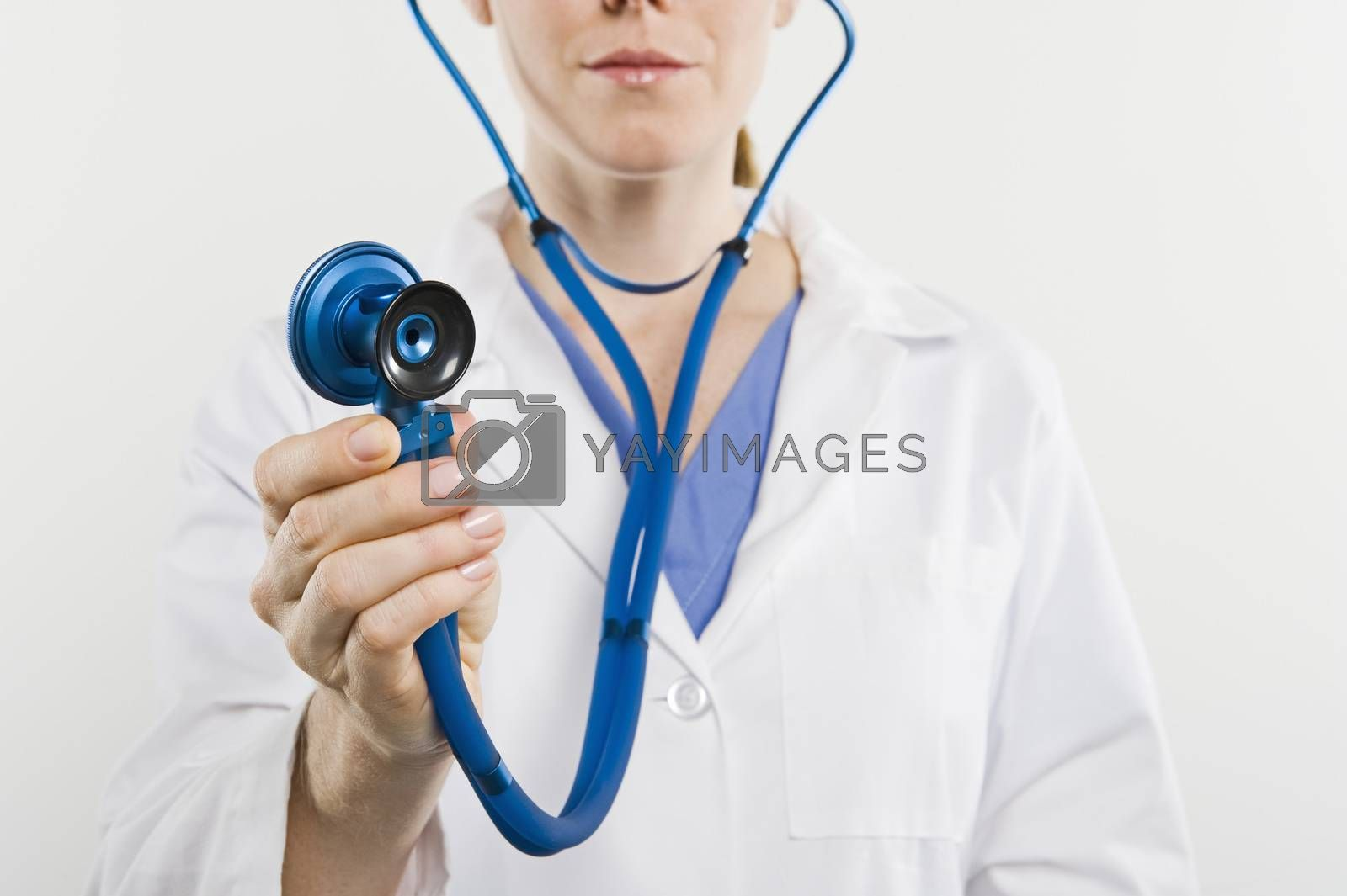 Midsection Of A Female Doctor Holding Stethoscope Around Neck Isolated Over White Background Royalty Free Stock Image Stock Photos Royalty Free Images Vectors Footage Yayimages