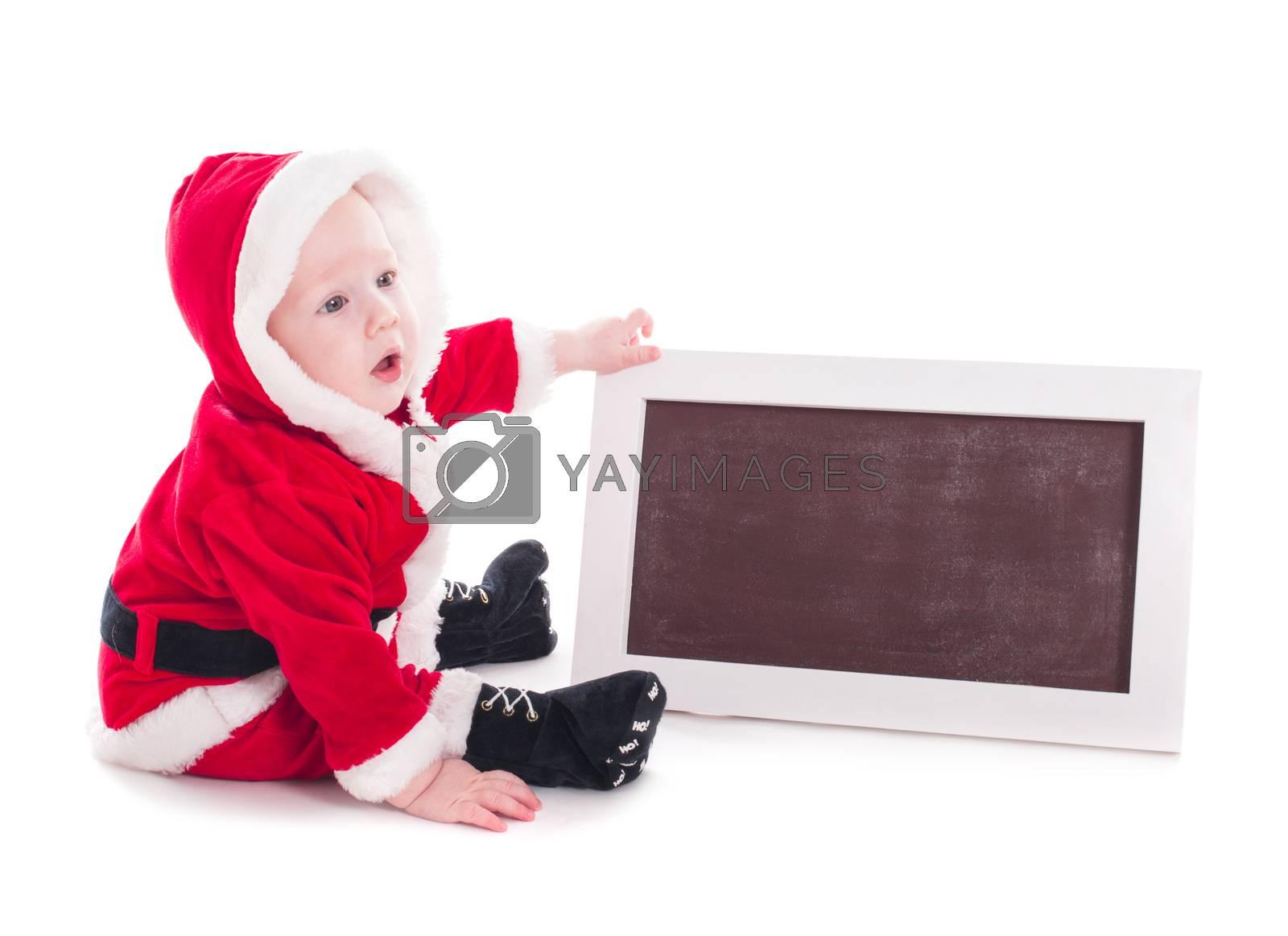 Santa and chalkboard by oksix
