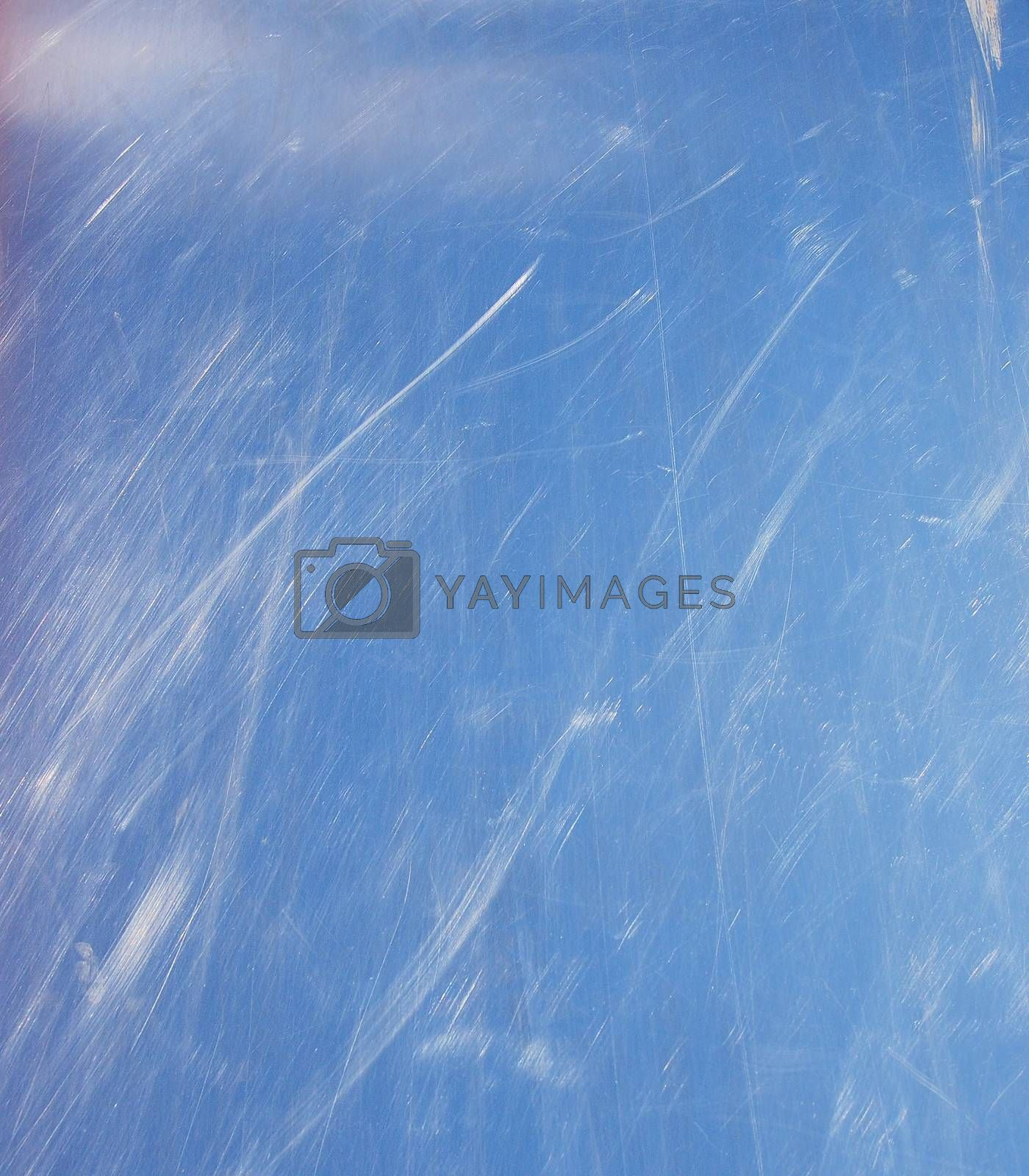 Scratched blue metal texture