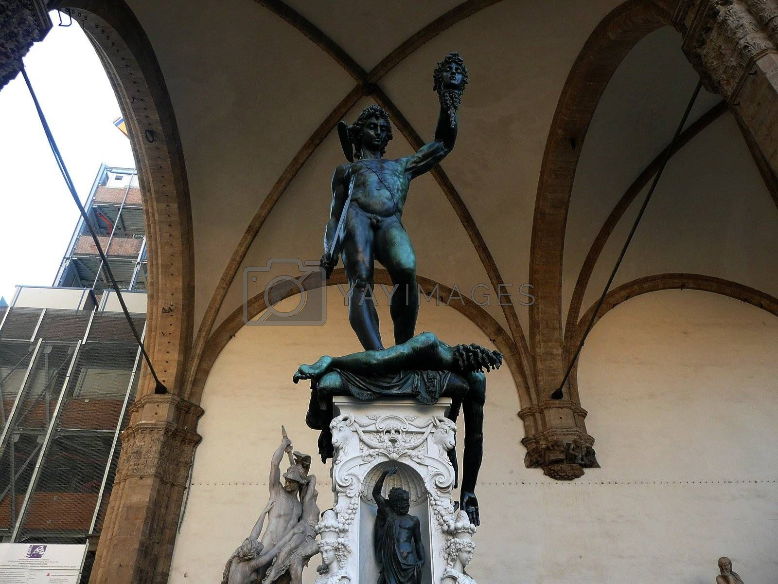 The traditional David and Goliath Statue, Florence, Italy
