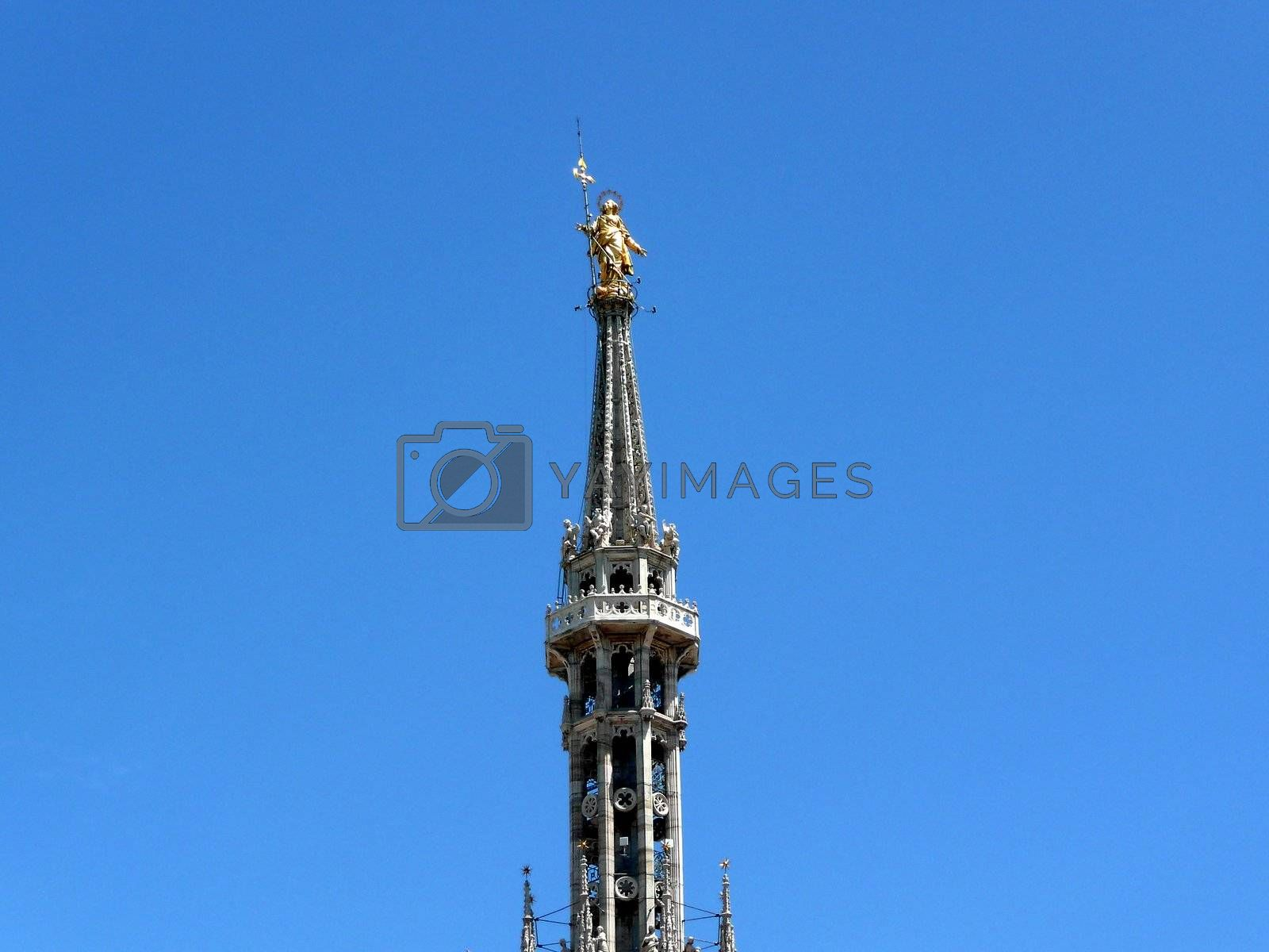 Madonnina Statue on the top of Milan Cathedral, Italy