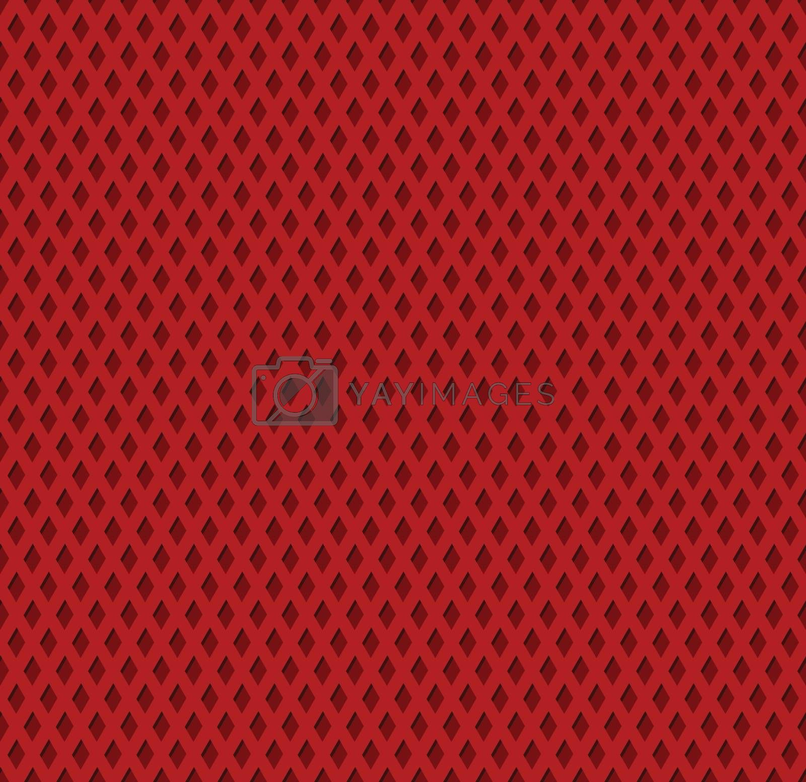 Red diamond shaped tileable seamless textured background