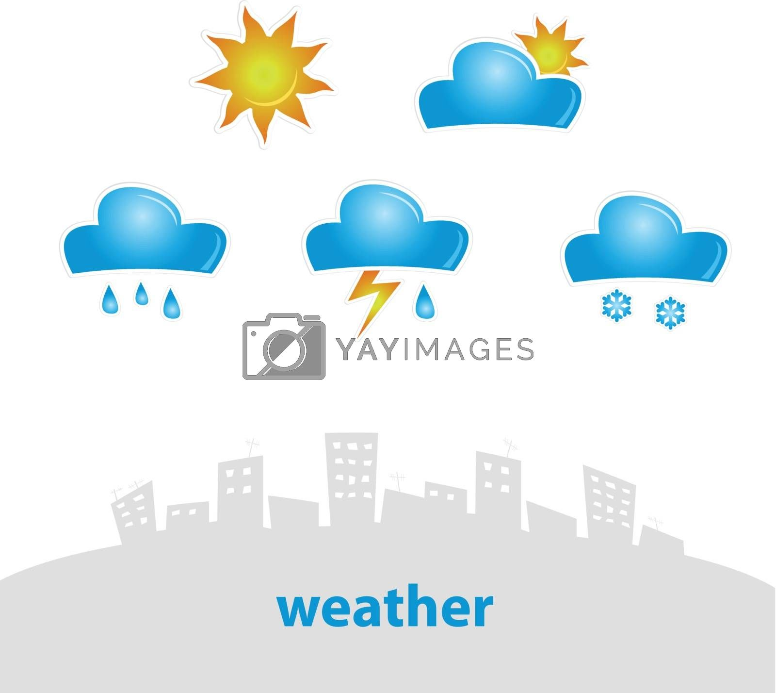Vector illustration set of original weather icons