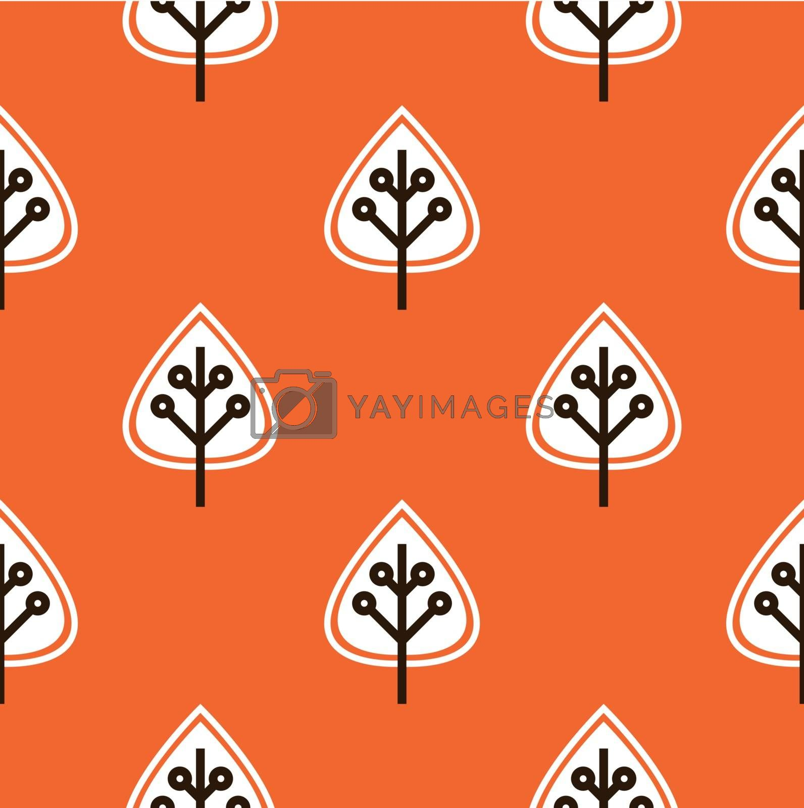 Thanksgiving pattern with autumn leaves. Vector