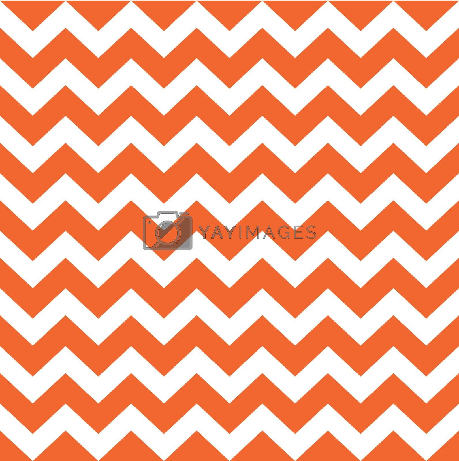 Chevron xmas seamless background - red and white. Vector