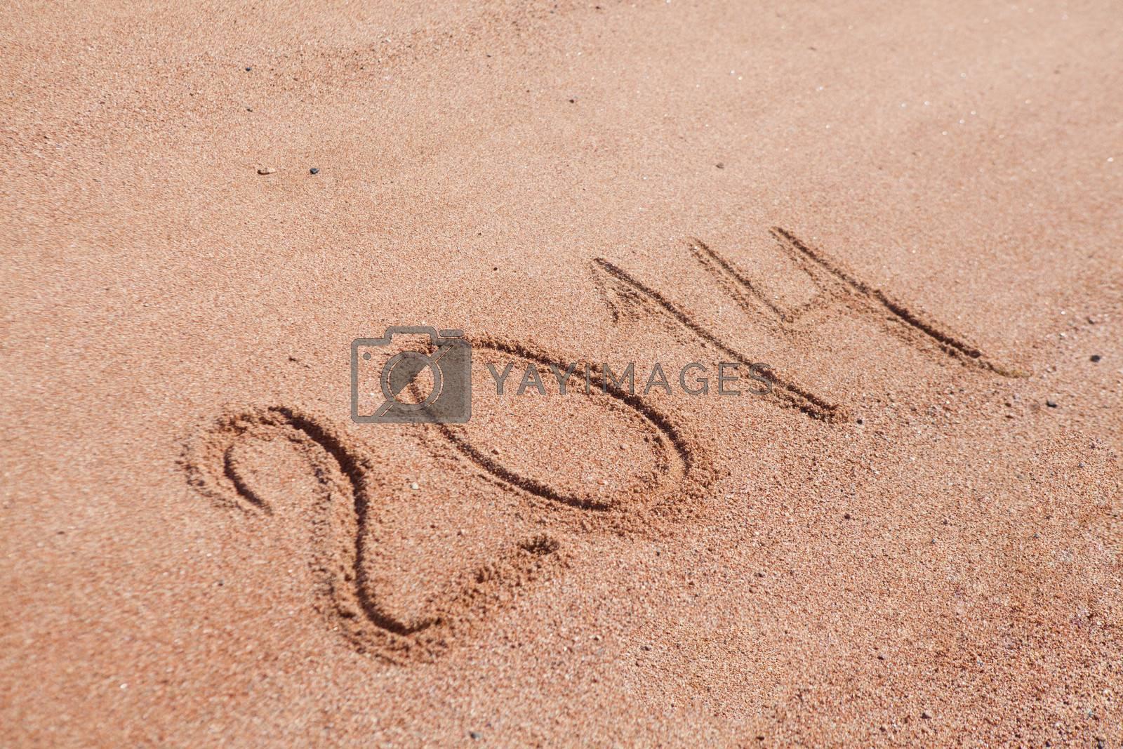 2014 written on the sand