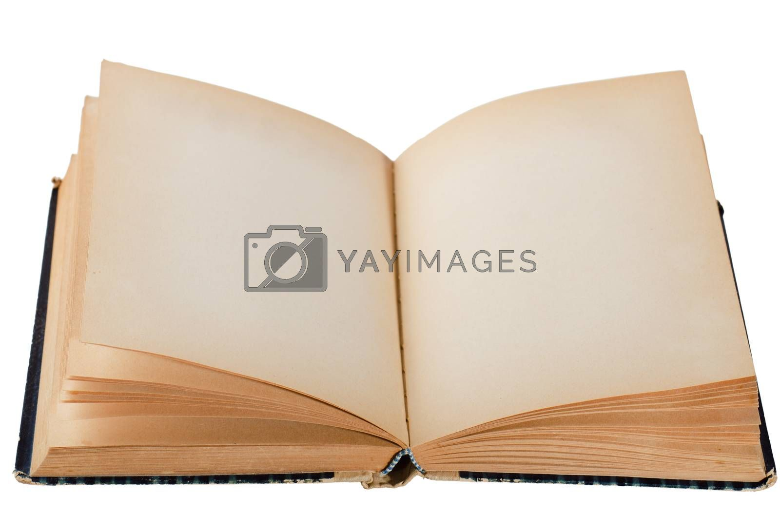 open old book, isolated on white