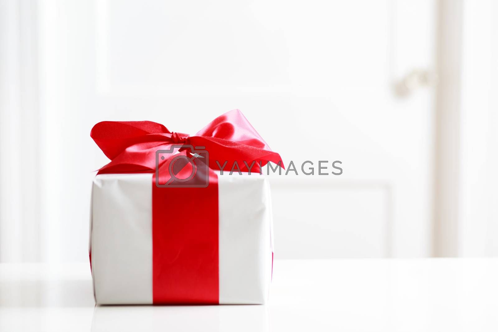 Royalty free image of Gift box on table by melpomene