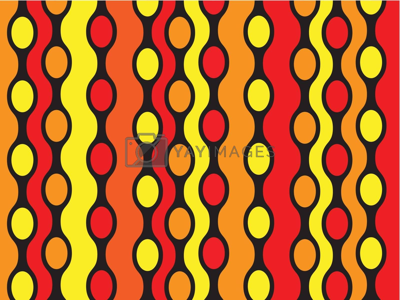 Abstract texture in red orange and yellow colors with black combination