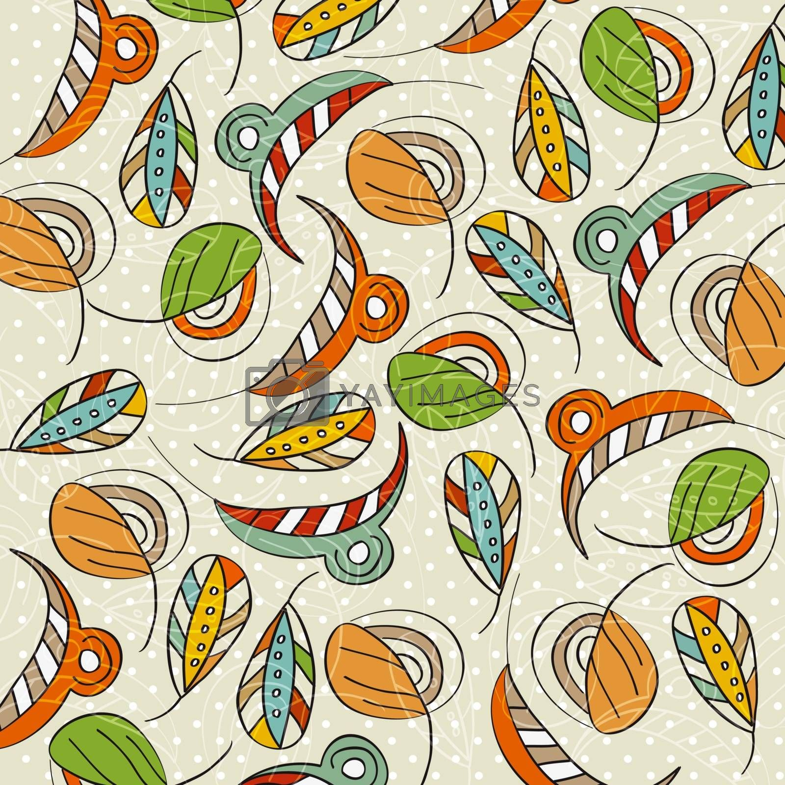 seamless pattern with leaf, illustration in vector format