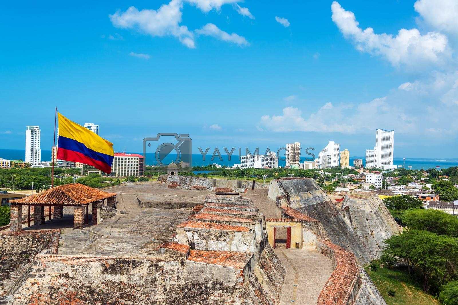 Royalty free image of San Felipe Castle and Skyline by jkraft5