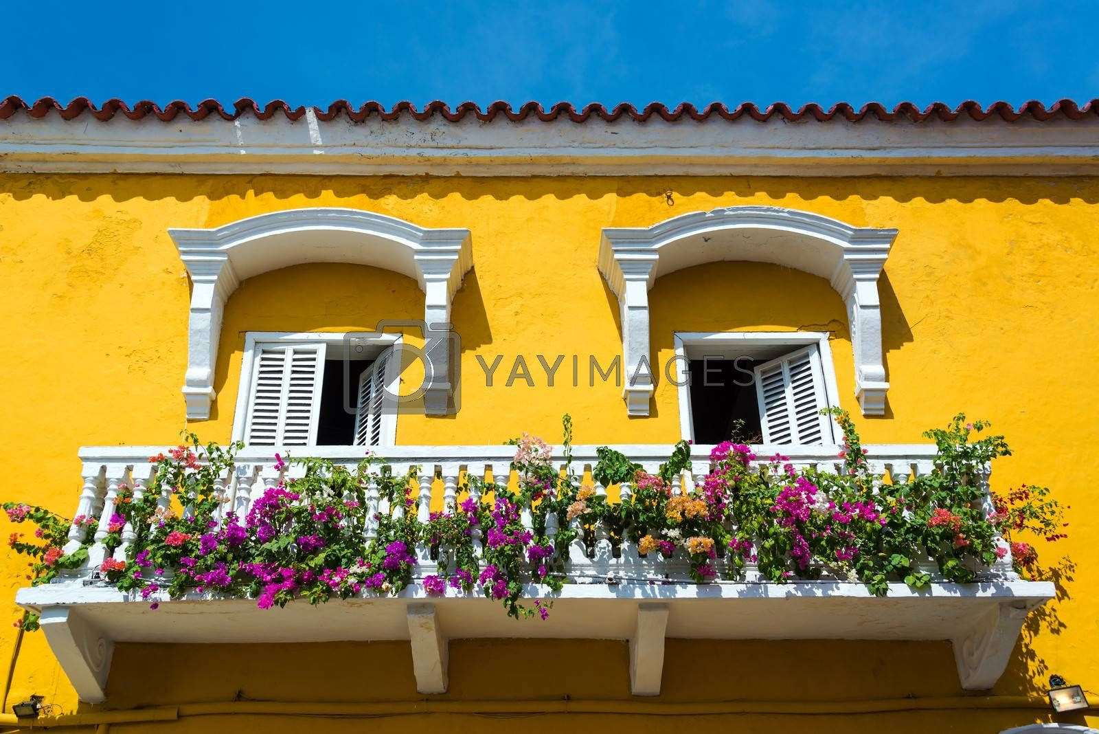 Royalty free image of Colonial Balcony in Cartagena by jkraft5