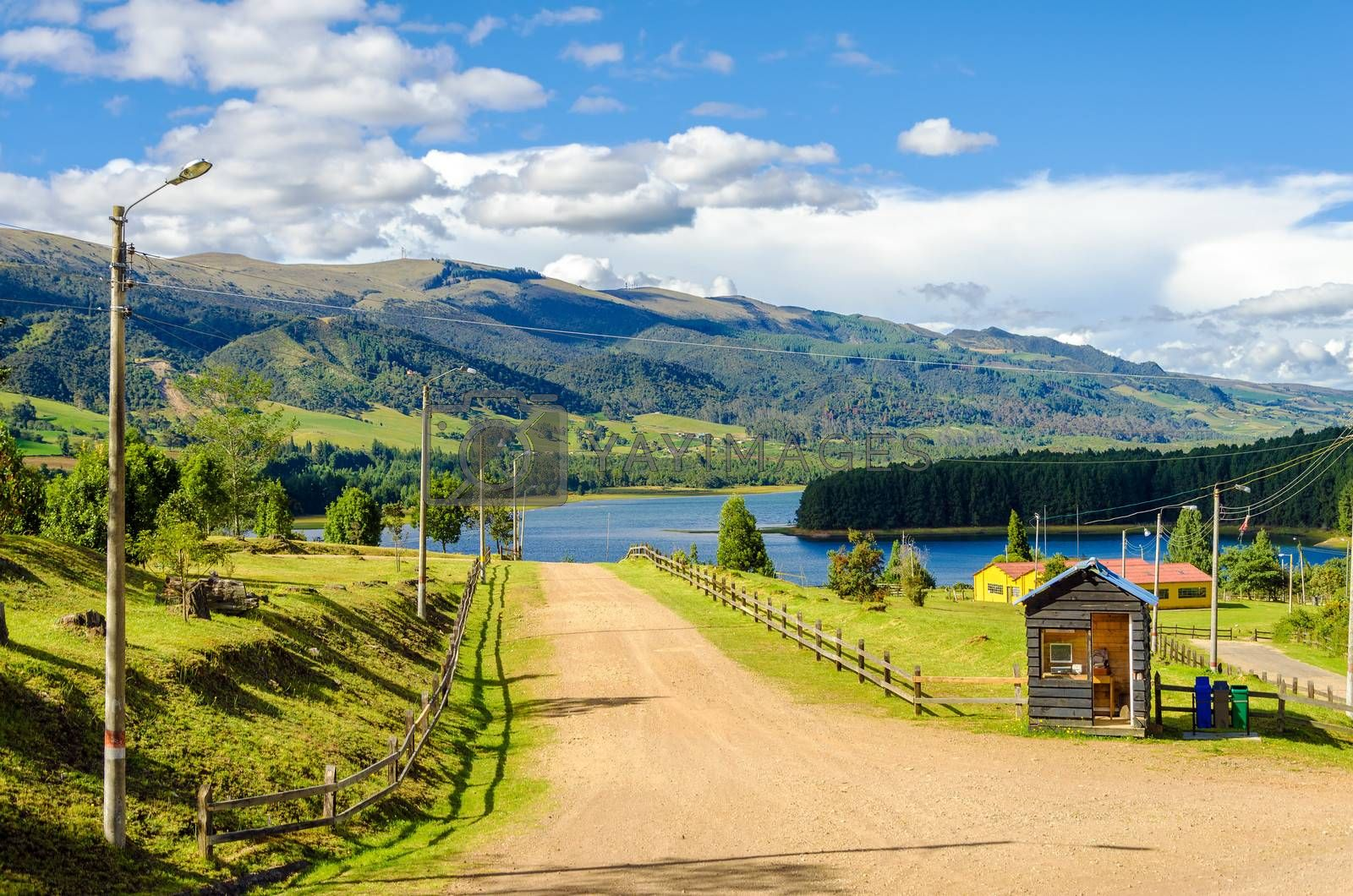 Royalty free image of Country Road and Lake by jkraft5