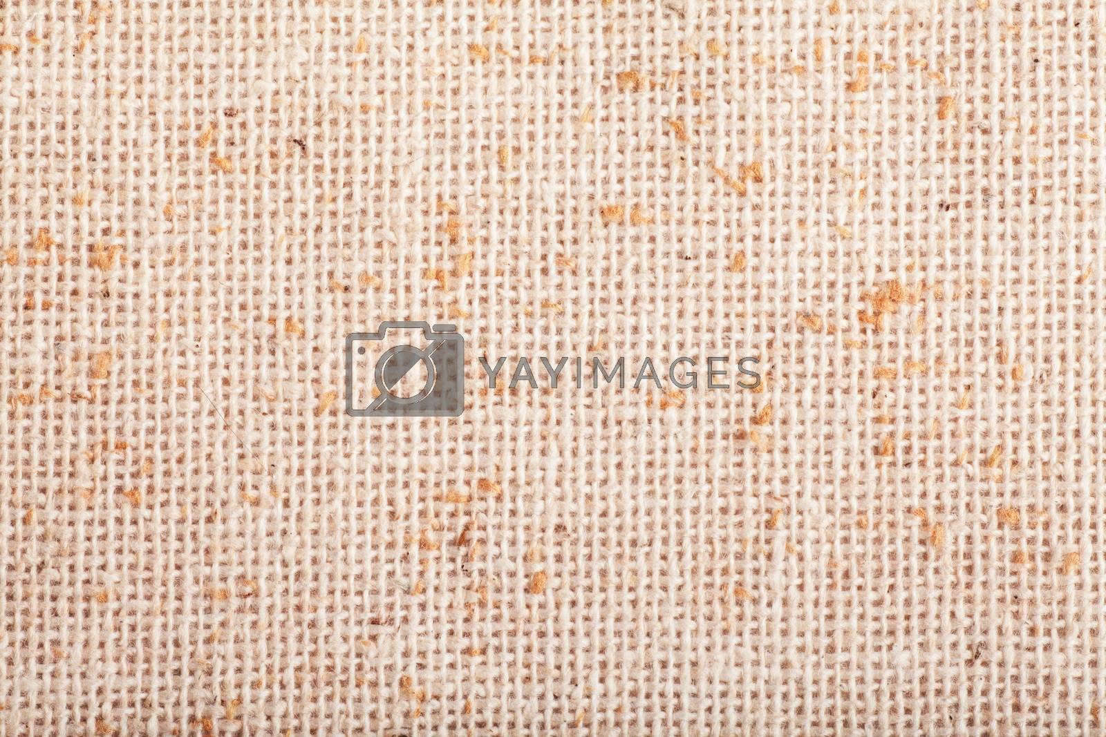 Macro view of sack texture