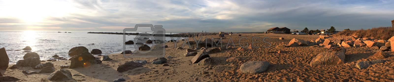 Hammonasset Beach Panorama by graficallyminded