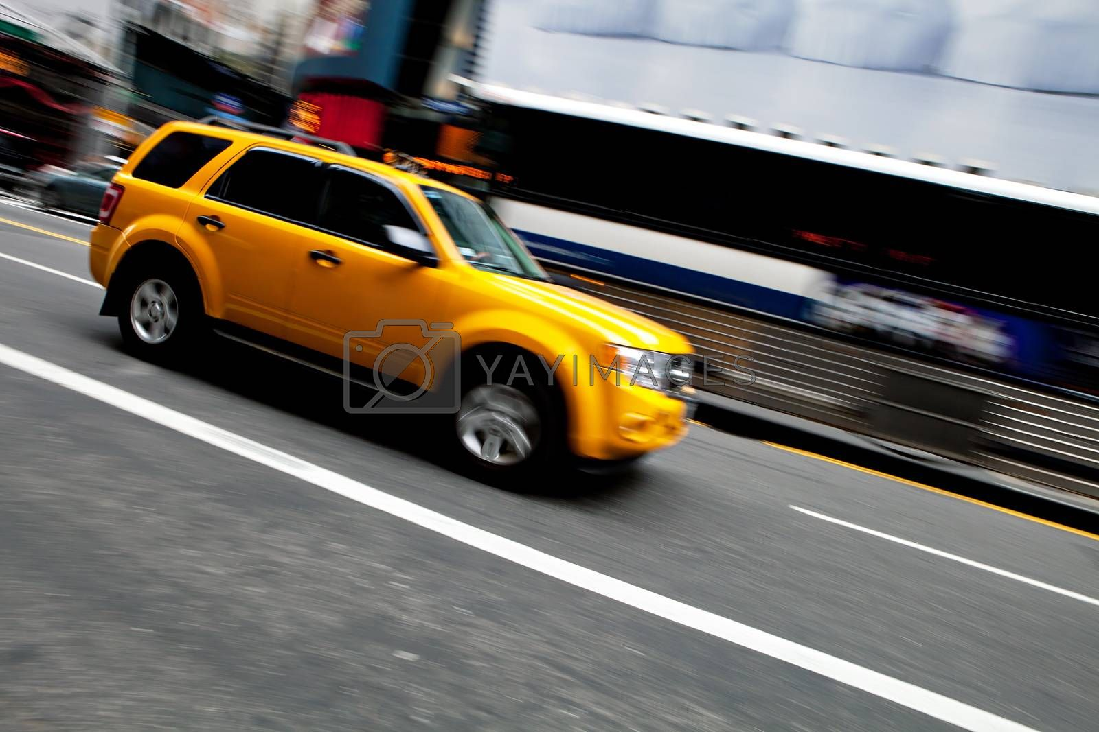 Speeding NYC Taxi SUV by graficallyminded