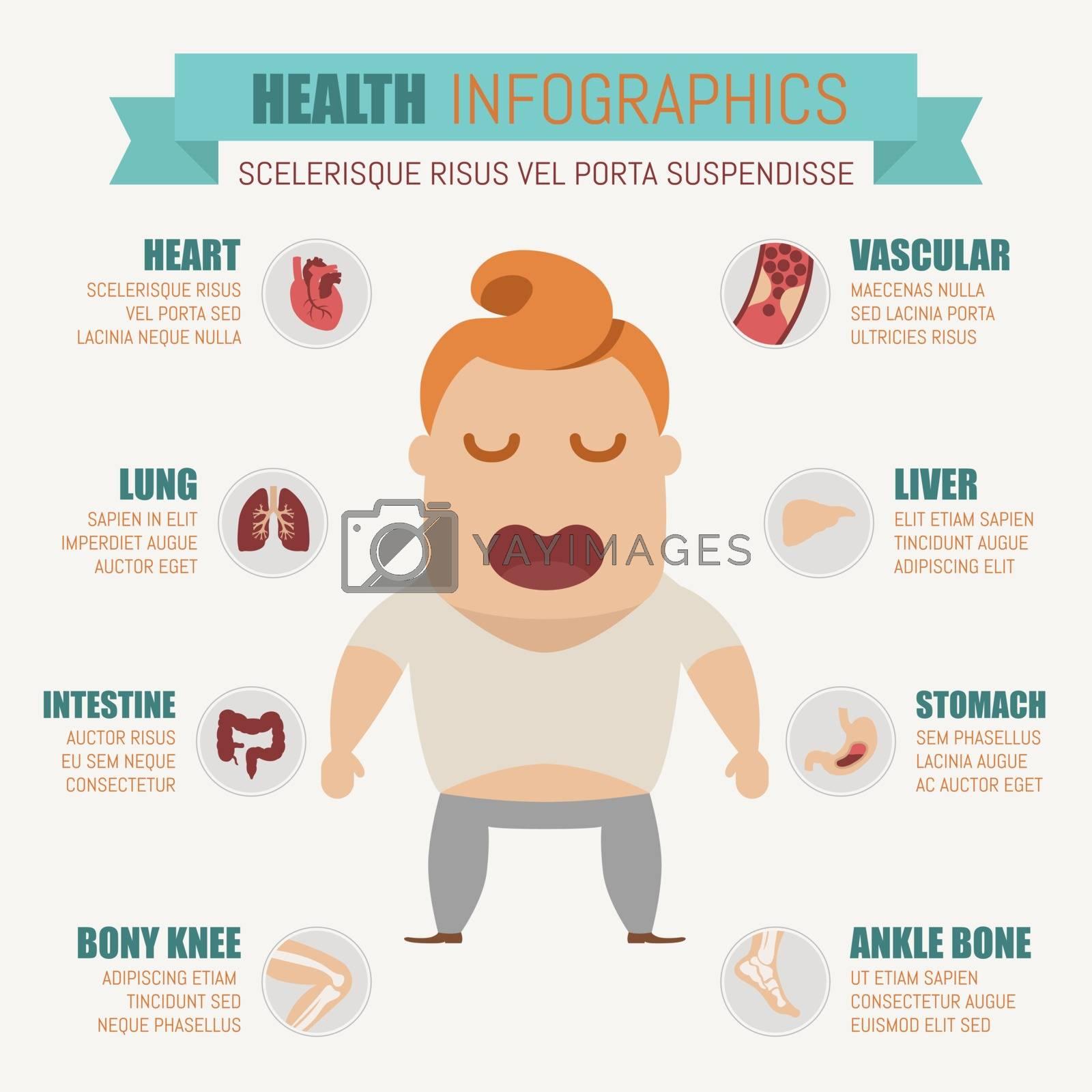 Health infographics , eps10 vector format