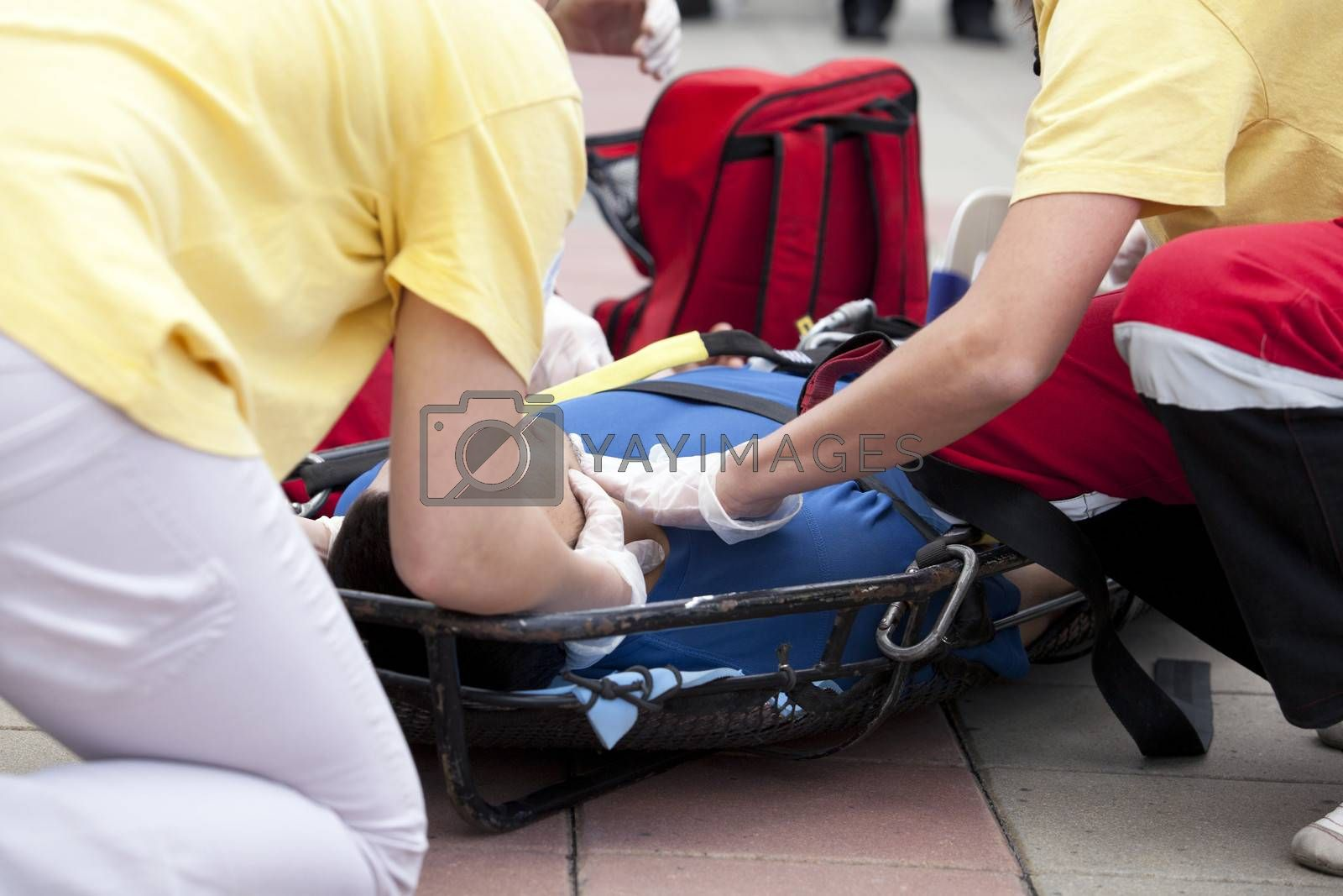 Royalty free image of First aid training by wellphoto